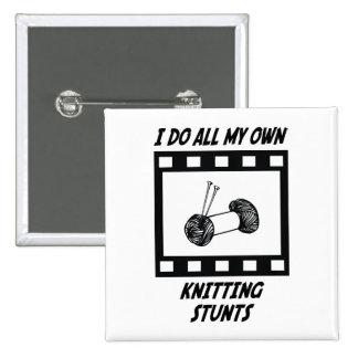 Knitting Stunts Pinback Buttons