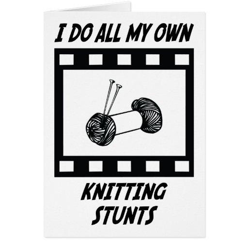 Knitting Stunts Cards