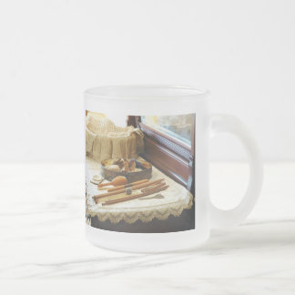 Knitting Supplies Frosted Glass Coffee Mug