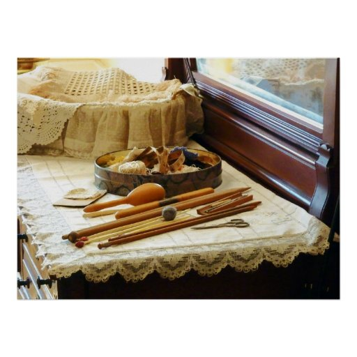 Knitting Supplies Poster