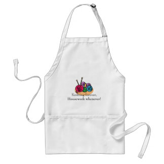 Knitting T-shirts and Gifts. Adult Apron