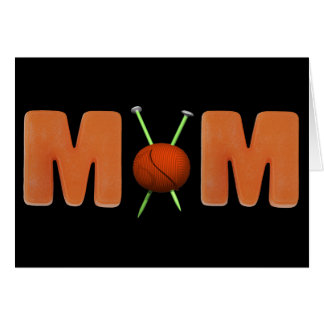 Knitting T-shirts and Gifts For Mom Card