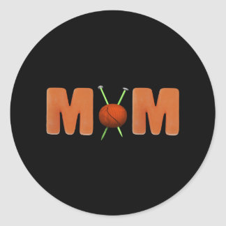 Knitting T-shirts and Gifts For Mom Classic Round Sticker