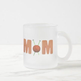 Knitting T-shirts and Gifts For Mom Frosted Glass Coffee Mug