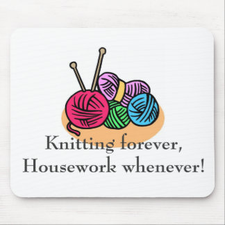 Knitting T-shirts and Gifts. Mouse Pad