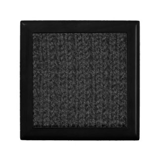 Knitting Texture of Black-Colored Yarn Jewelry Boxes