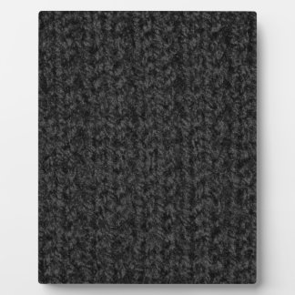 Knitting Texture of Black-Colored Yarn Display Plaque