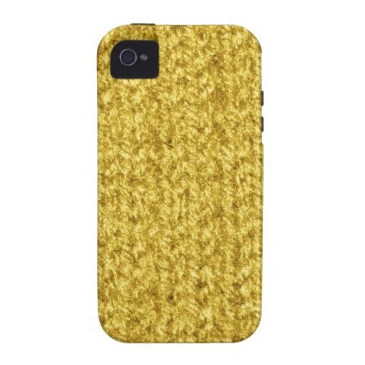 Knitting Texture of Gold/Yellow Colored Yarn iPhone 4/4S Cases