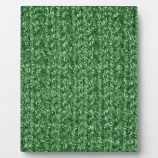 Knitting Texture of Green-Colored Yarn Display Plaques
