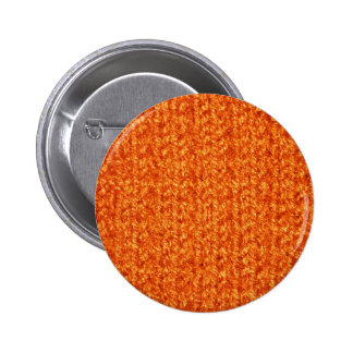 Knitting Texture of Orange-Colored Yarn Buttons