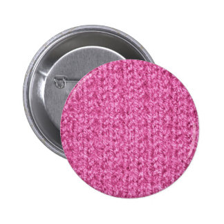 Knitting Texture of Pink-Colored Yarn Button