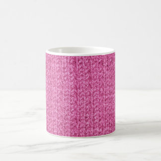Knitting Texture of Pink-Colored Yarn Classic White Coffee Mug