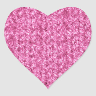 Knitting Texture of Pink-Colored Yarn Heart Sticker