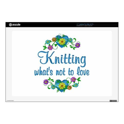 """Knitting to Love 17"""" Laptop Skins"""