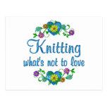 Knitting to Love Postcard