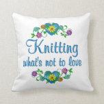 Knitting to Love Throw Pillows