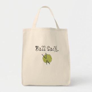 Knitting tote grocery tote bag