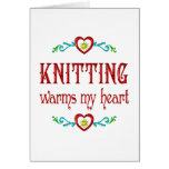 Knitting Warms My Heart Cards