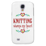 Knitting Warms My Heart Samsung Galaxy S4 Cover