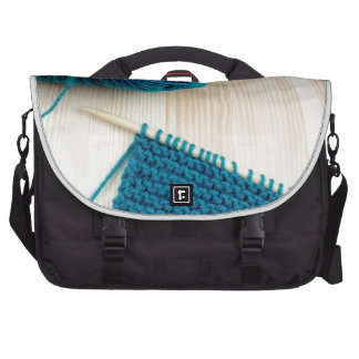Knitting with teal yarn bags for laptop