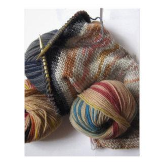 Knitting with Wool Yarn Flyer