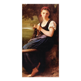 Knitting Woman by William-Adolphe Bouguereau Card