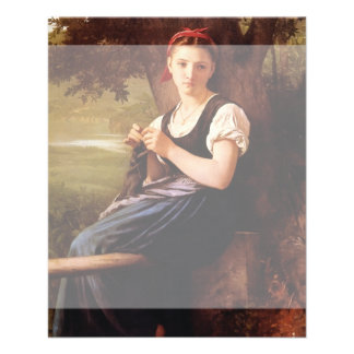 Knitting Woman by William-Adolphe Bouguereau Flyer
