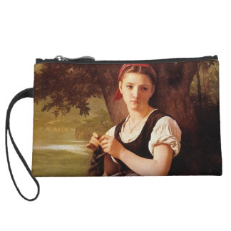 Knitting Woman by William-Adolphe Bouguereau Wristlet