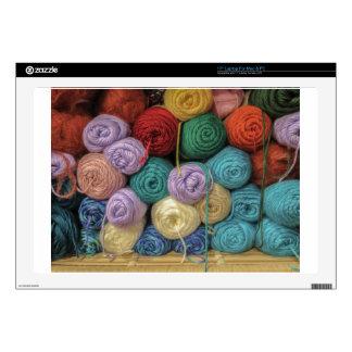 """Knitting Yarn 17"""" Laptop Skins"""