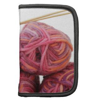 Knitting yarn and bamboo needles organizers
