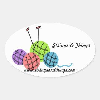 knitting yarn balls Sticker