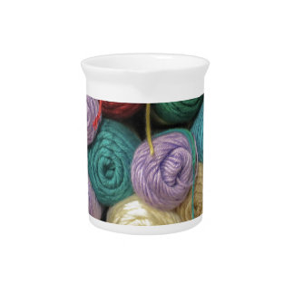 Knitting Yarn Beverage Pitcher