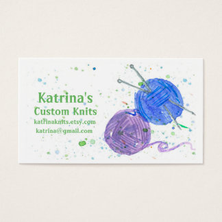 Knitting Yarn Business Card