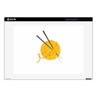 Knitting Yarn Decal For Laptop
