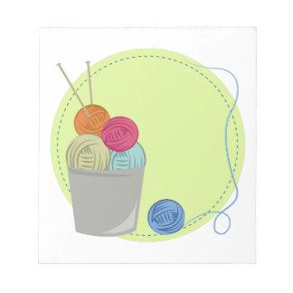 Knitting Yarn Note Pad
