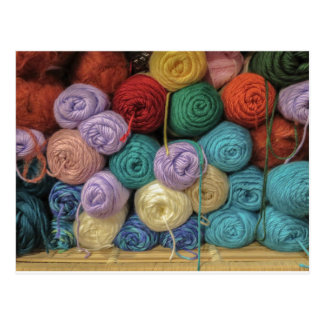 Knitting Yarn Postcard