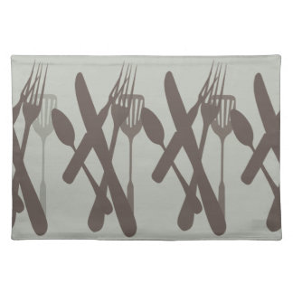 Knives and Forks and Spoons Oh My!! Cloth Placemat