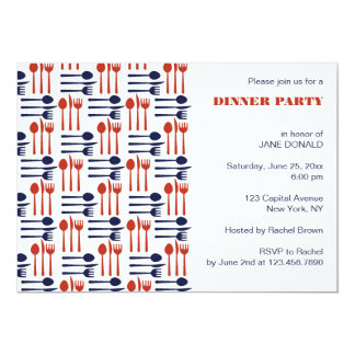 Knives,Forks and Spoons Dinner Party Invitations
