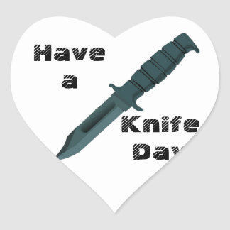 Knives Have a Knife Day Heart Sticker