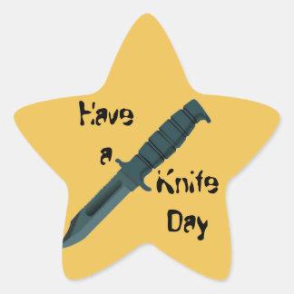 Knives Have a Knife Day Star Sticker