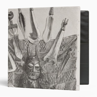Knives, mask and mat from Upper Congo 3 Ring Binder