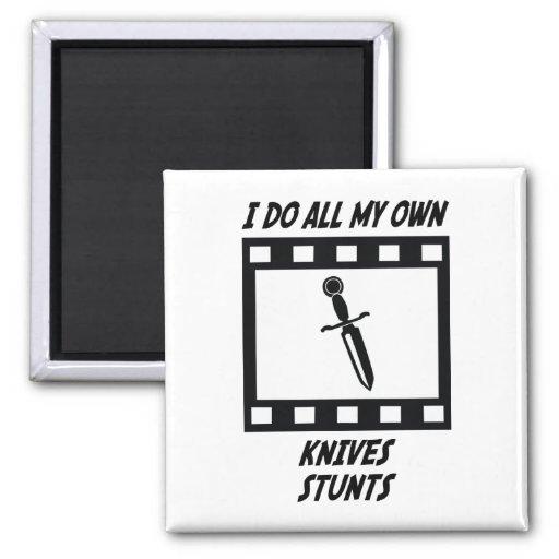 Knives Stunts Refrigerator Magnet