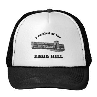 Knob Hill Trucker Cap- Black on White Trucker Hat