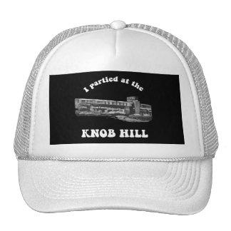 Knob Hill Trucker Cap- White on Black Mesh Hat