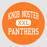Knob Noster - Panthers - High - Knob Noster Round Sticker