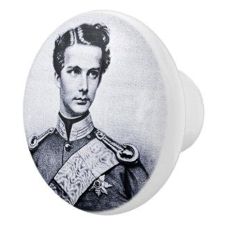 Knob with Ludwig II Ceramic Knob