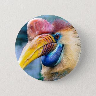 Knobbed Hornbill Button