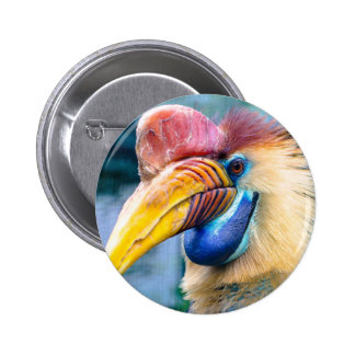 Knobbed Hornbill 2 Inch Round Button