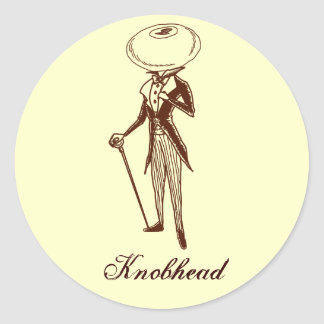 Knobhead Classic Round Sticker