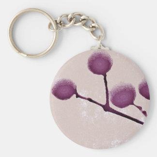 Knobs Basic Round Button Keychain